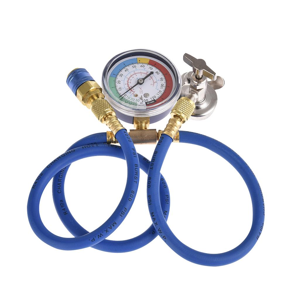 Car Air Conditioning Repair Tool Refrigerant Connector Cold Pressure Gauge Bottle Opener Air Conditioner Fluoridation Tube