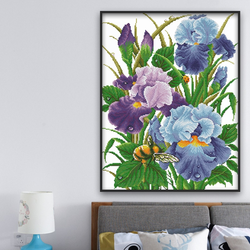 square mosaic icons diamond diy painting by numbers embroidery 3d diamond paintings full beauty butterfly flower girl TN Diamond Embroidery Flower Picture Full Square Drill Diamond Mosaic By Rhinestones Diamond Painting Floral  Home Decoration