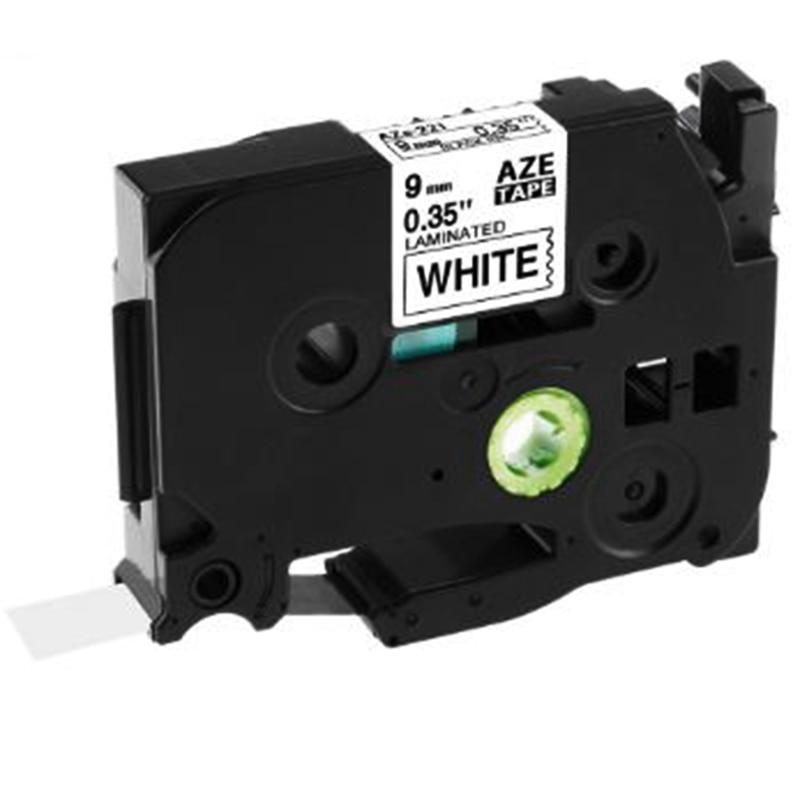 5 uds Tze-221 9Mm negro sobre blanco Tze221 Tz221 Tze 221 Tz cinta para hermano p-touch etiqueta fabricante impresora cintas laminadas