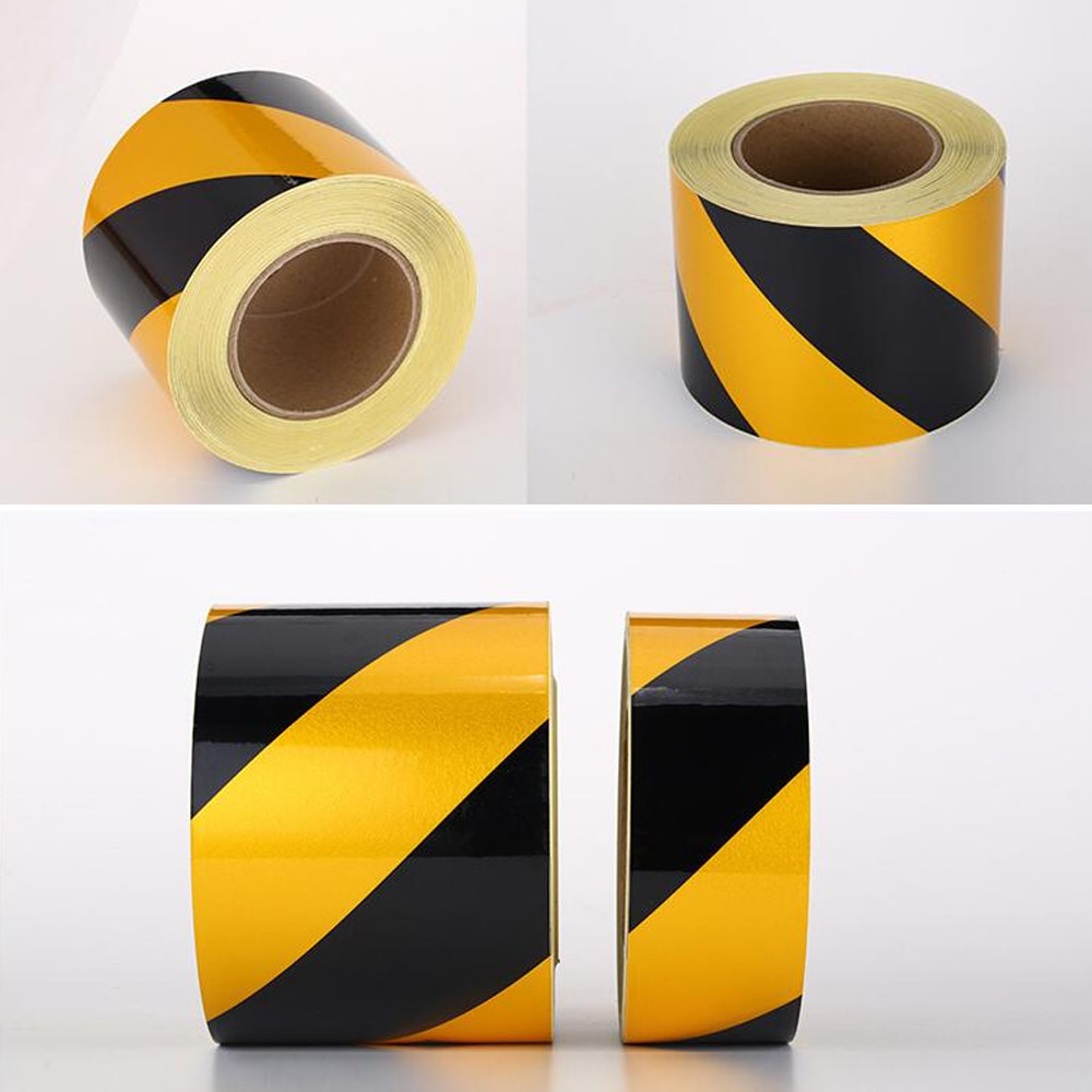 Waterproof High Visibility Adhesive Safety Tape Warning Stripe For Floor Marking
