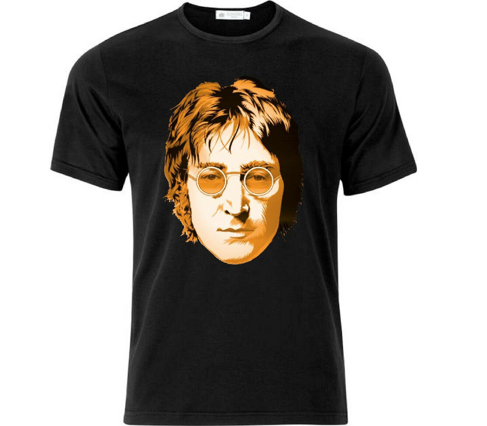 Camiseta negra de John Lennon icónico