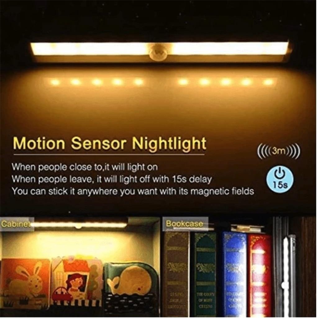 LED Wireless PIR automatyczny czujnik ruchu podczerwieni nocna szafka lekka lampa schodowa oświetlenie domowe akcesoria do lampa domowa фонарь