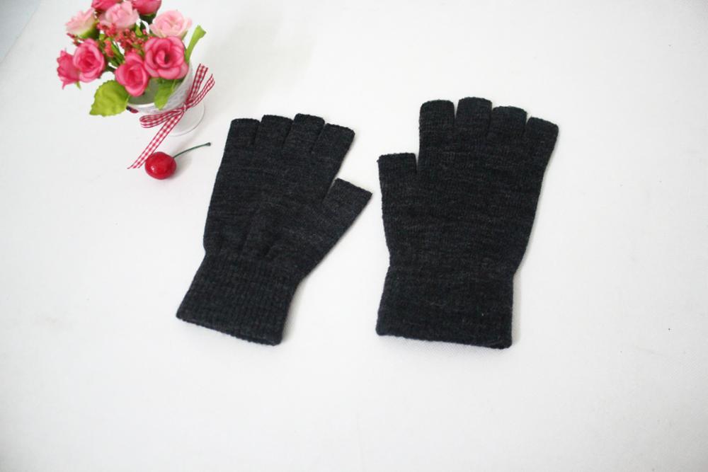 Nowe ciepłe pięciopalcowe i pół palcowe rękawiczki męskie i damskie jesienne i zimowe cienkie półcięte pół sekcji kaszmiru otwarte palce driv