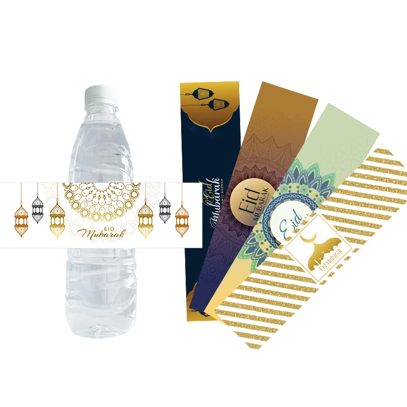 Eid Mubarak Party Decor Water Bottle Stickes Labels Seal Sticker Gift Bag Stickers DIY Decor Supplies Muslim Islamic Festival
