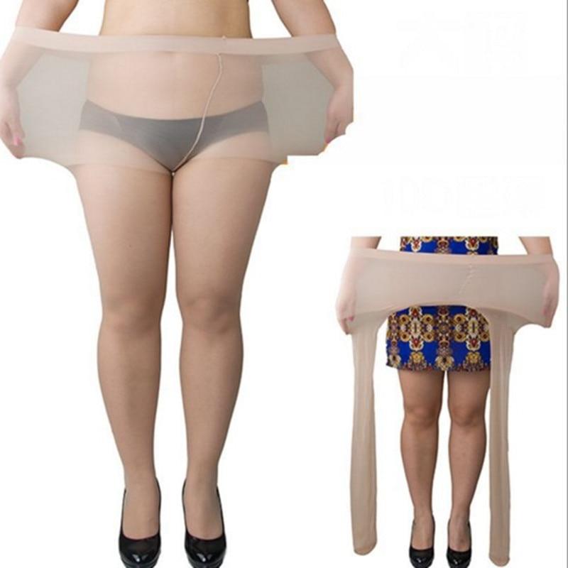 Pantimedias para dama de talla grande para verano, medias de mujer de talla grande, ultrafinas, transpirables, Sexy, súper elásticas XXL, medias sin fisuras