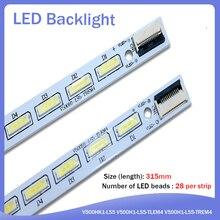 new 2 Pieces/lot L50E5000A V500H1-LS5-TLEM4 V500H1-LS5-TREM4 V500H1-LS5-TLEM4 LED lamp strip V500HJ1-LE1 LS5 28LED 315MM