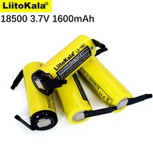 New LiitoKala Lii-16C 18500 1600mAh 3.7V Recarregavel Lithium ion Battery For LED Flashlight+DIY Nickel