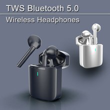 New TWS Wireless Bluetooth 5.0 Headphones HiFi Stereo Earphone Skin-Friendly Sports Waterproof  Touc