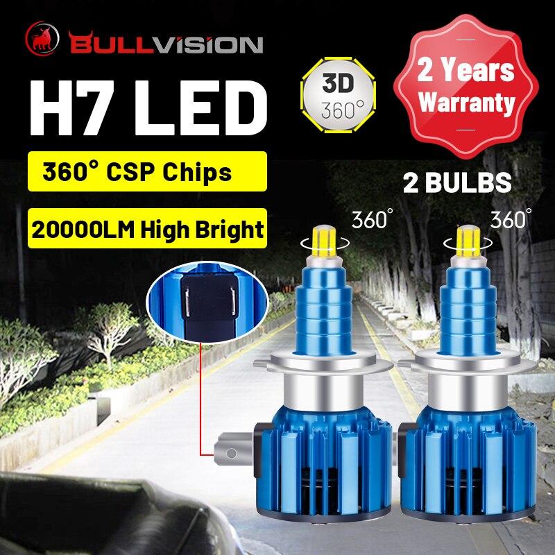 H7 LED المصباح 20000LM H4 LED 360 درجة CSP رقاقة H11 H8 H9 9005 HB3 9006 HB4 عالية شعاع STG منخفضة شعاع مصابيح الضباب الصغيرة التوصيل والتشغيل