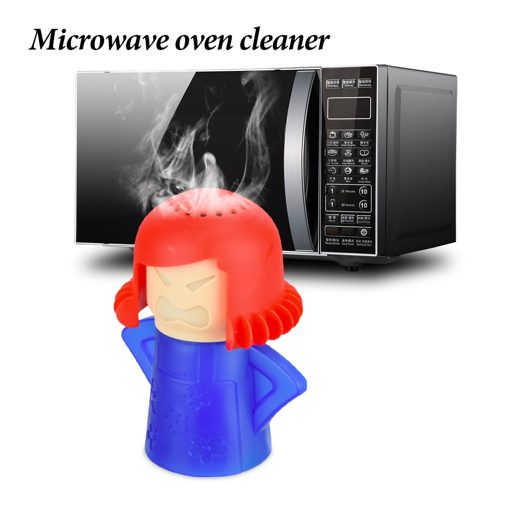 1Pcs Funny Microwave Oven Steam Cleaner Volcano Kitchen Cleaning Tools Mama Microwave Cleaner Easily
