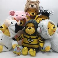 1 шт. 30 см оригинальный Винни-Пух наряд пчела свинка Зебра материал мягкая плюшевая игрушка кукла подарок на день рождения для детей и девоче...