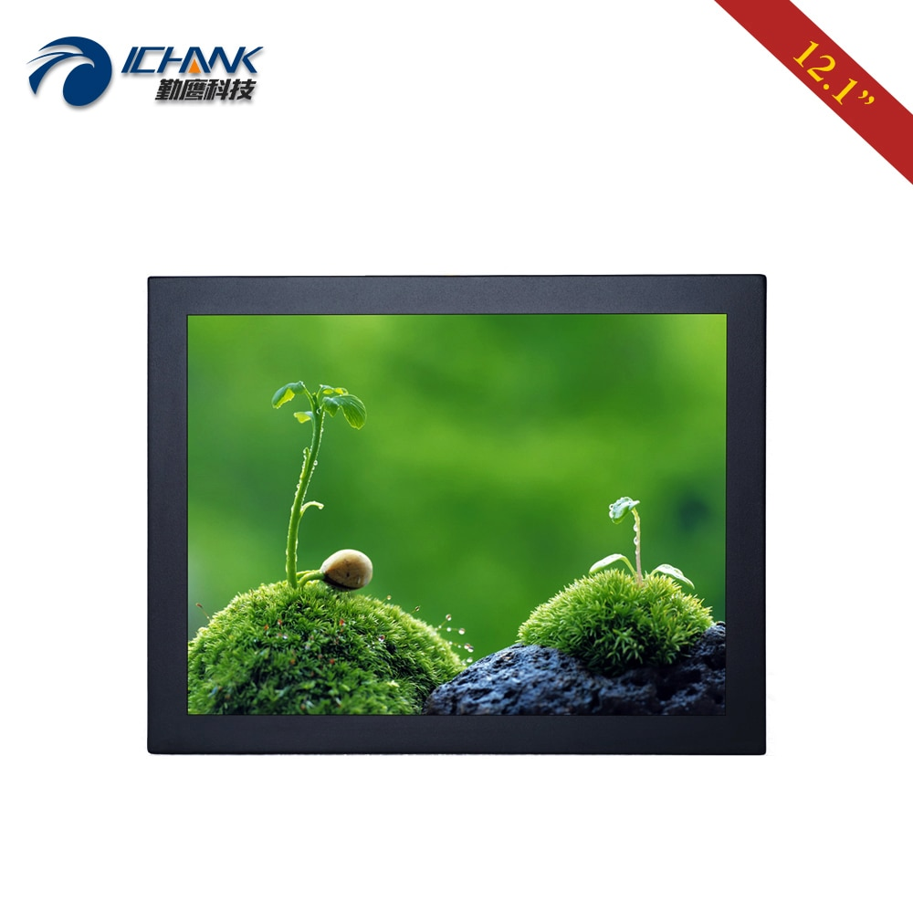 "ZB120TN-DV1/12"" inch 800x600 4:3 Metal Shell Monitor/12"" DVI VGA HD Anti-interference Wall-mounted Industrial LCD Screen Display"