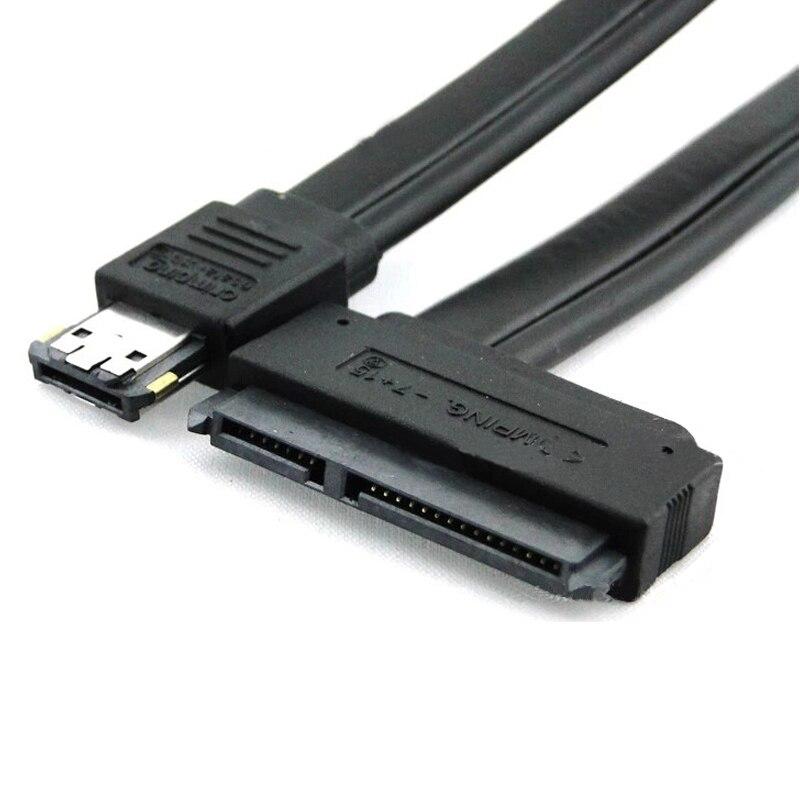 1 قطعة عالية الجودة جديد المزدوج الطاقة eSATA USB 12 فولت 5 فولت كومبو إلى 22Pin SATA USB قرص صلب كابل كابلات الكمبيوتر موصلات اكسسوارات