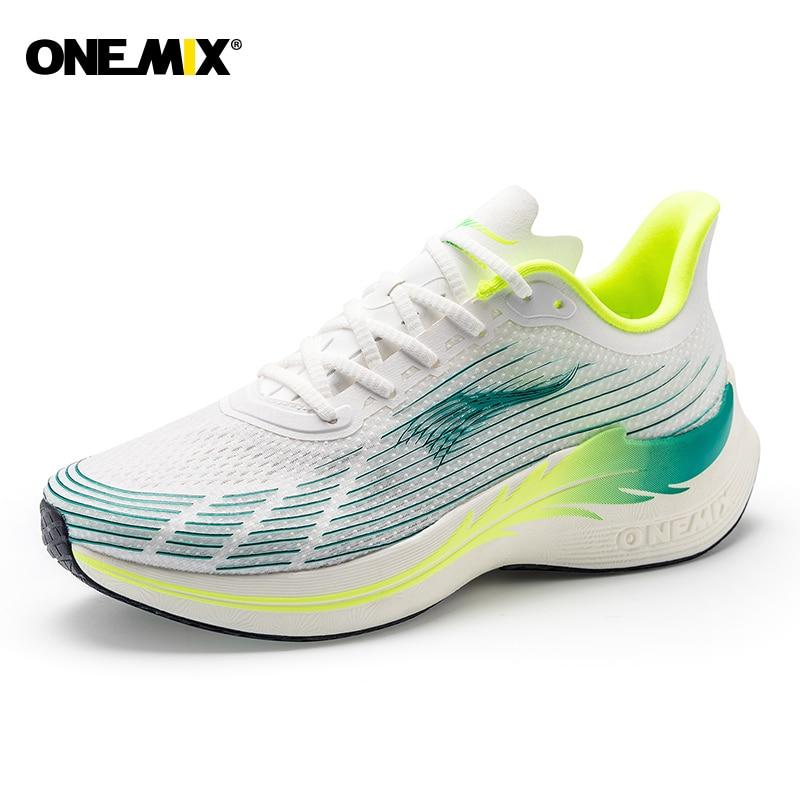 ONEMIX 2021 أحذية رياضية للرجال احذية الجري التكنولوجيا الفائقة ضوء سرعة أحذية رياضية تنفس الهواء الوحيد الأسود في الهواء الطلق سوبر ماراثون