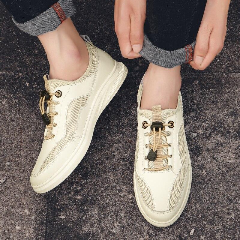 حذاء كاجوال رجالي سهل الارتداء حذاء كاجوال للرجال أحذية رياضية جلد موضة للرياضة للرجال أحذية رياضية للرجال Zapatillas