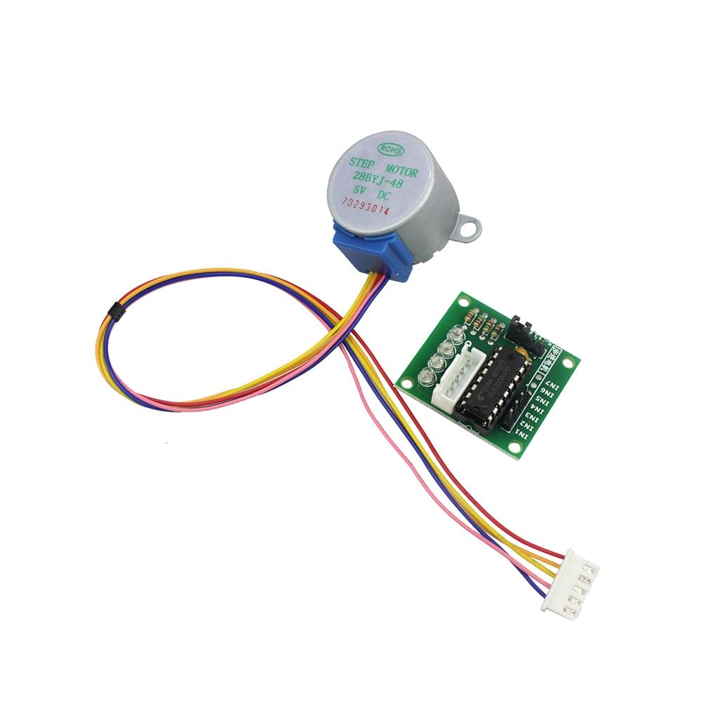 Smart Electronics 28BYJ-48 5V 4 fases de engranaje de CC Motor paso a paso + ULN2003 tablero de controlador arduino, Kit de bricolaje,