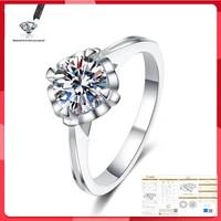 original moissanite ring 100 s925 sterling silver wedding anniversary 1ct 2ct d color vvs1 fashion ring
