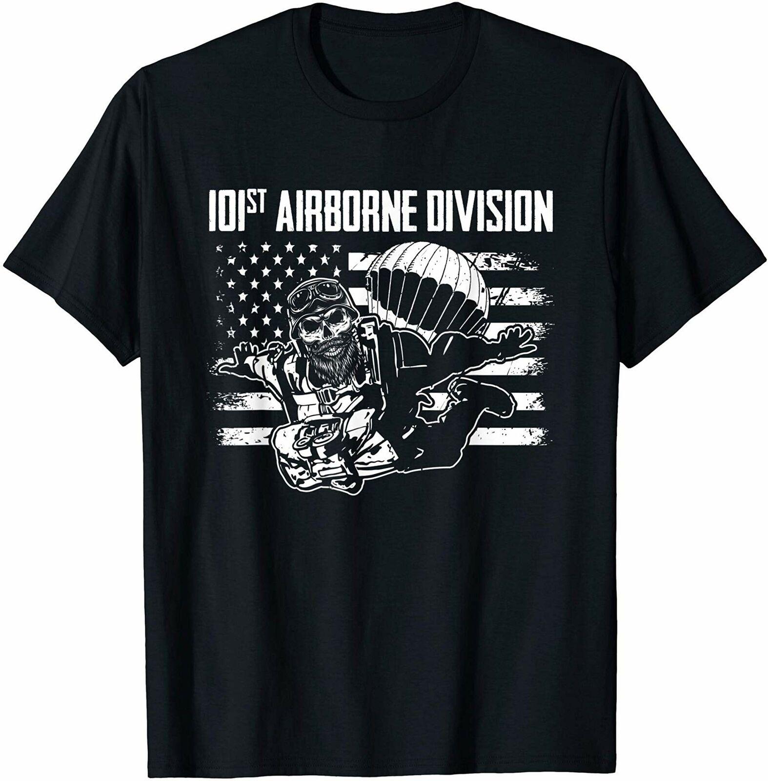 101st airborne divisão t camisa vintage presente para homem feminino engraçado preto t