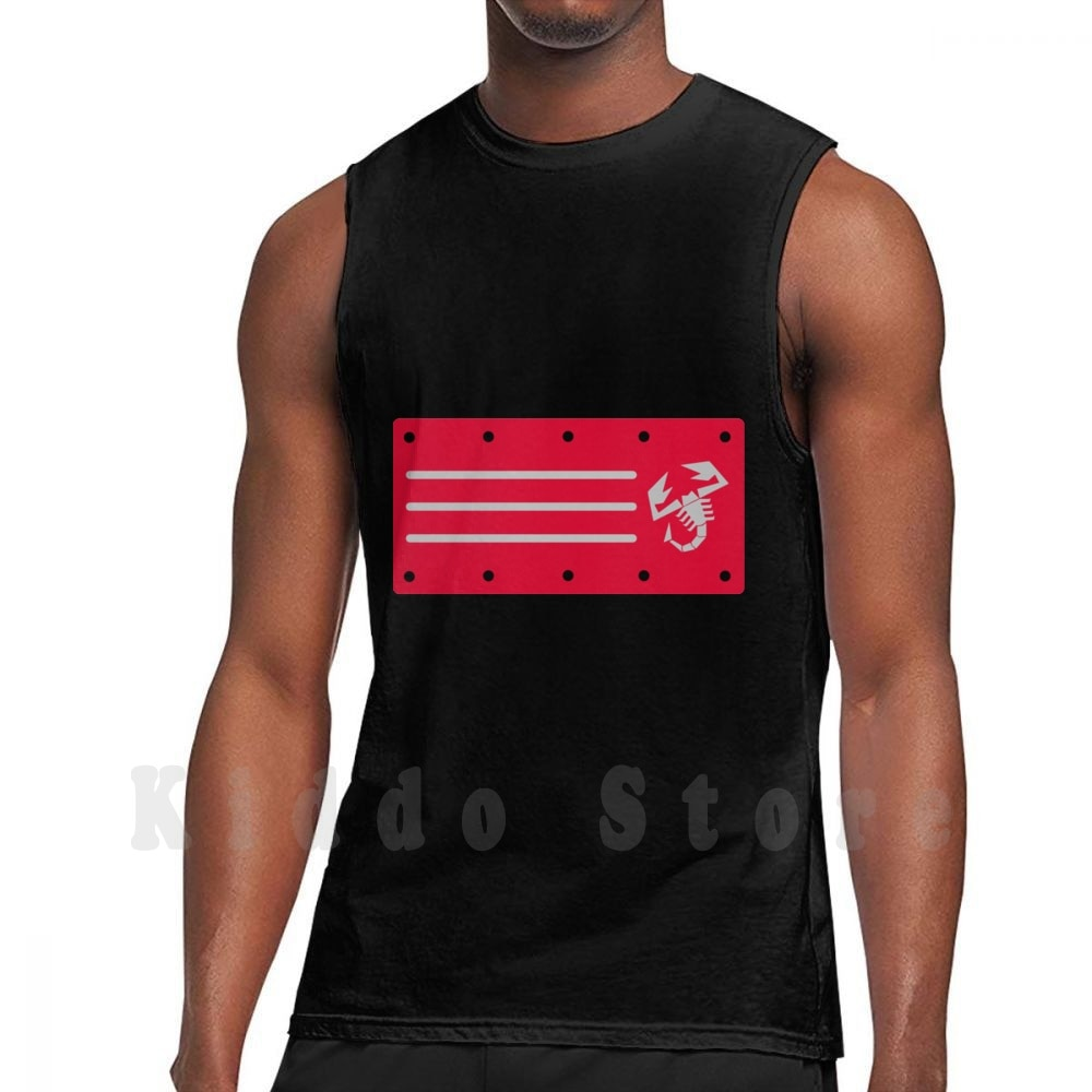 Abarth-Camiseta sin mangas con motor para Fiat, chaleco de algodón 100% Fiat...