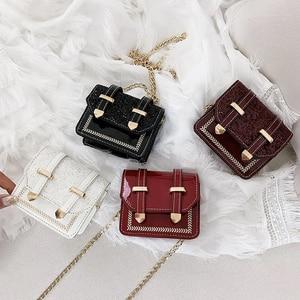 Small Female Bag PU Leather Crossbody Bags For Women Travel Fashion Mini Shoulder Bags Metal Chains Women's Purses And Handbags