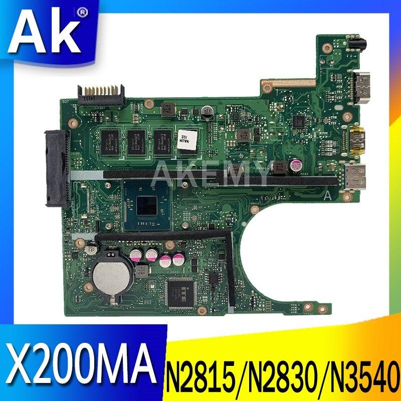 جديد X200MA اللوحة ل ASUS X200M X200MA F200M اللوحة N2815 N2830 N2840 N2940 N3530 N3540 2GB 4GB