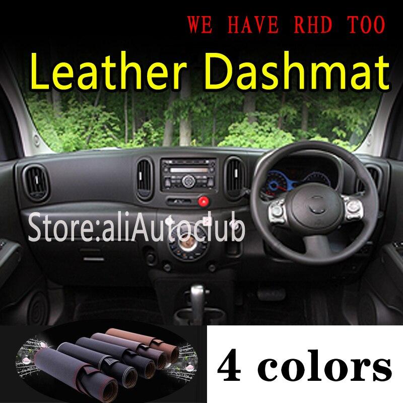 لنيسان كيوب G3 2009 2010 20112014 2019 جلد داشمات غطاء لوحة داش حصيرة ظلة السجاد سيارة التصميم اكسسوارات السيارات