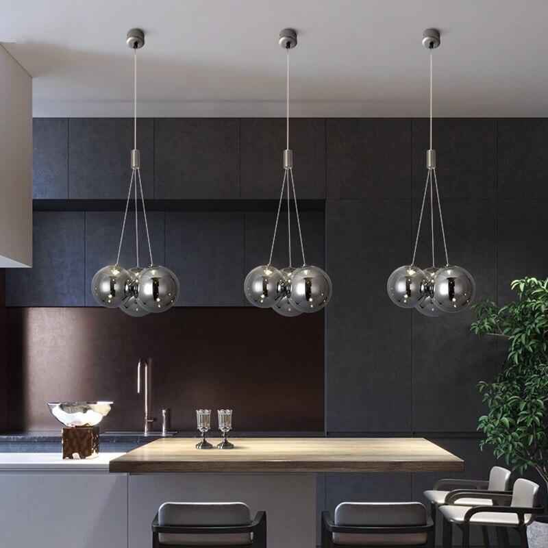 Стеклянные подвесные светильники в скандинавском стиле, современные люстры для спальни, гостиной, декоративные подвесные лампы для рестор...