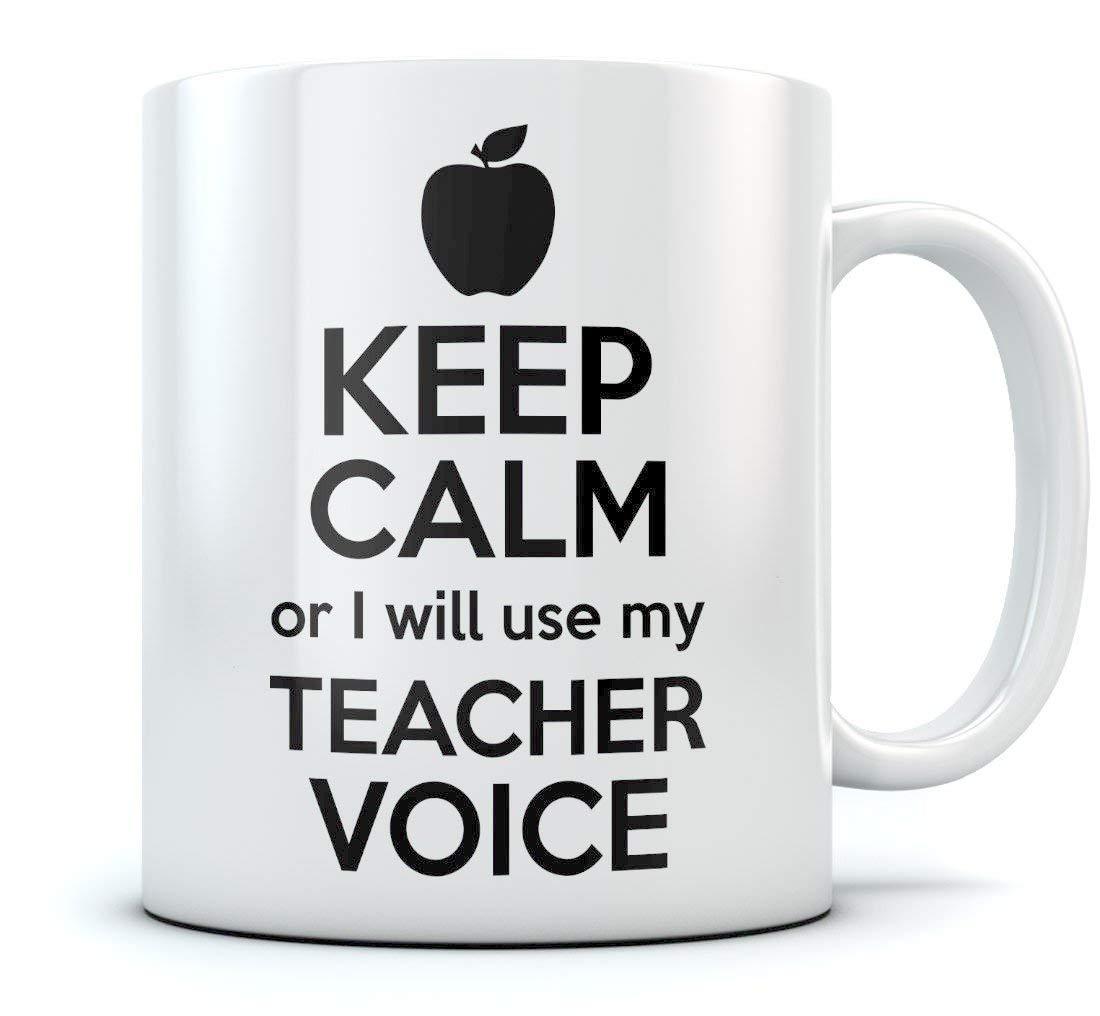 Сохраняйте спокойствие или я буду использовать мой голос учителя забавная