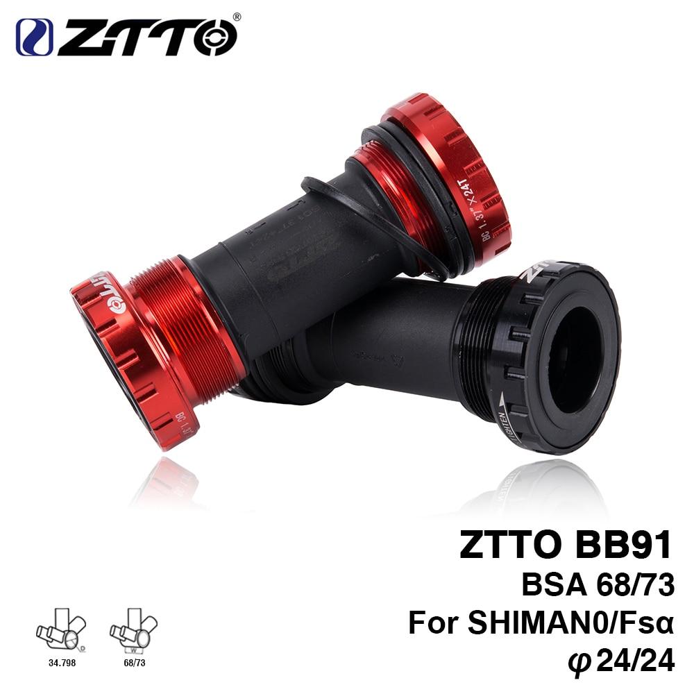 ZTTO BB91 soporte inferior de rodamiento tipo tornillo 68/73mm eje para bicicleta MTB Road soporte inferior para bicicleta impermeable CNC aleación BB