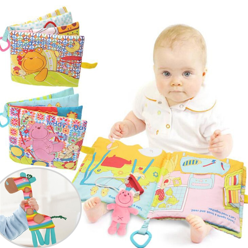 Sonajeros de jirafa para bebé, juguete móvil, oso suave, libro de tela,...
