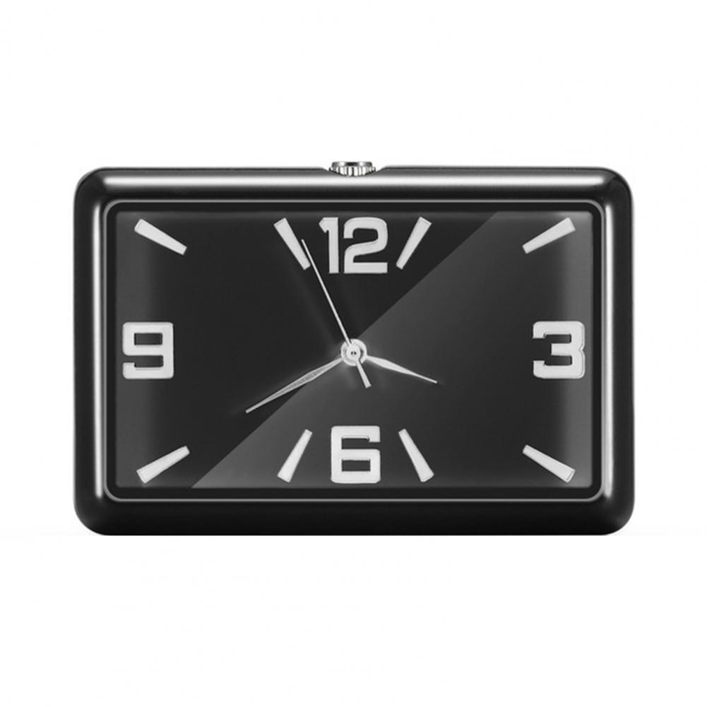 Universal Fashion Square Car Clock Interior Decoration Self-adhesive Electronic Vent Clip Watch Car Styling Accessories For Gift car clock timepiece car decoration electronic meter auto interior ornament automobiles sticker watch interior in car accessories