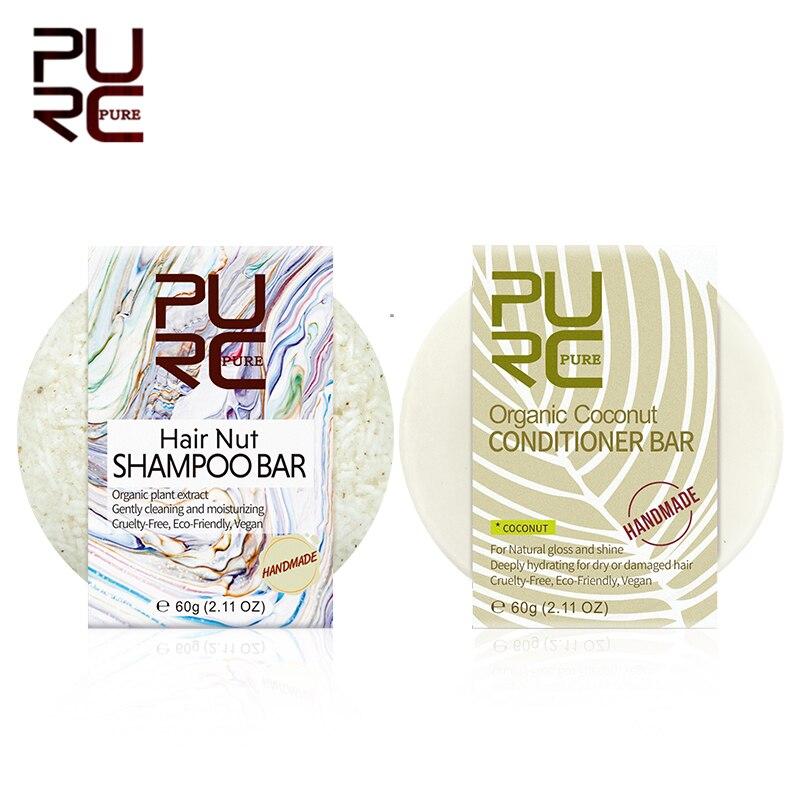 Чистый натуральный органический волос гайка Шампунь Бар & холодной обработки ручной кокосовый кондиционер бар Твердый шампунь кондиционер Уход за волосами