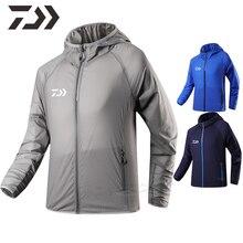 Daiwa veste vêtements de pêche imperméable vêtements de pêche hommes mince UV protection chemise de pêche coupe-vent multi-poches manteau hommes
