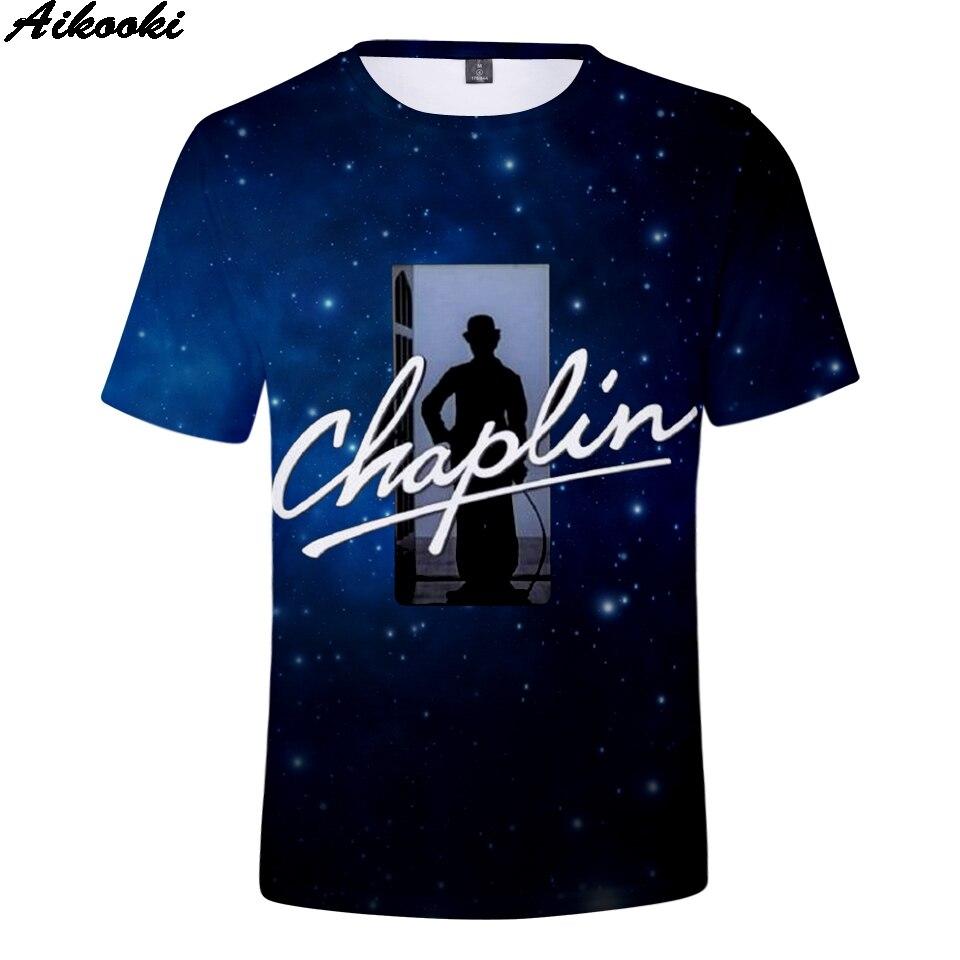 Camiseta de los niños de Chaplin Harajuku camiseta divertida clásica 3D impresión linda de la historieta Top Streetwear verano deportes ventilación niños Tee