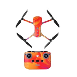 Sunnylife cor película protetora adesivo à prova dwaterproof água corpo braço controle remoto adesivo para dji mavic mini ar 2 drone acessórios