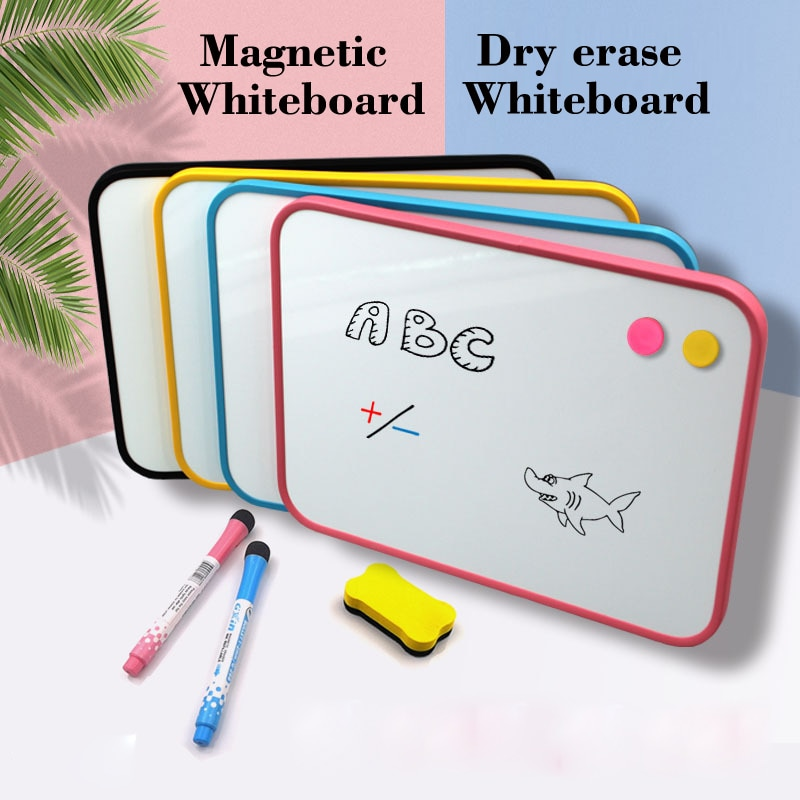 Magnetic WhiteBoard Double-sided Writing Dry Erase Board  Manga Drawing Tools Kid Drawing Practice Message Bulletin Board