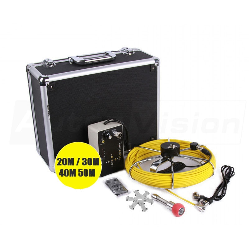 Pipe Pipeline Inspection 23mm Camera 7D1 40M Drain Sewer Industrial Endoscope Waterproof Snake Video System with DVR