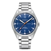 Corgeut 41mm luxury Business Male clock Automatic relogio masculino steel Mechanical Sapphire Glass Blue Dial mens wrist watch