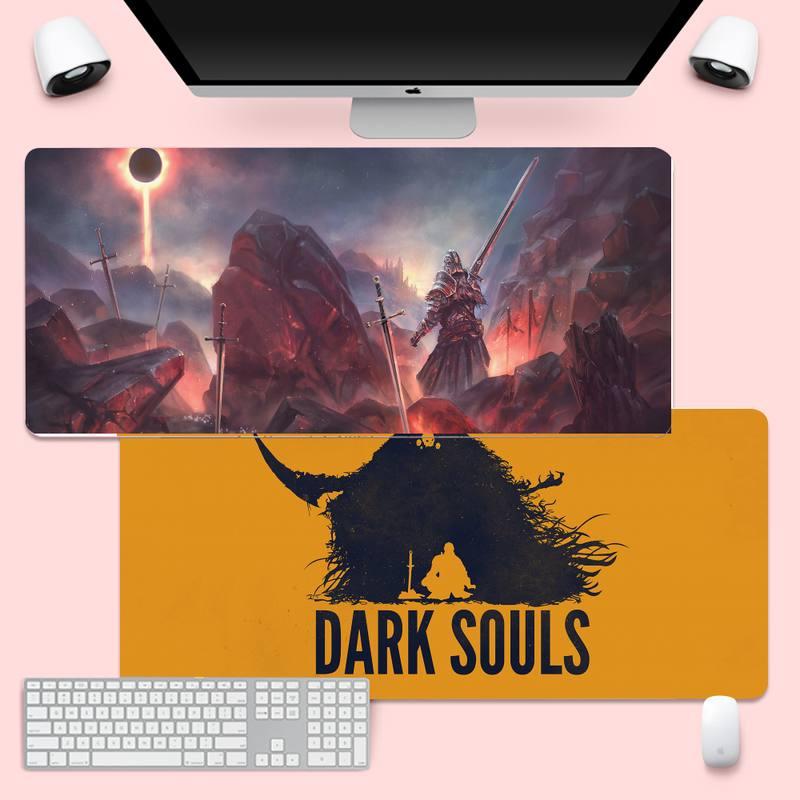 Коврик для компьютерной мыши Dark души, большой игровой коврик XL для клавиатуры, ПК, настольного компьютера, планшета