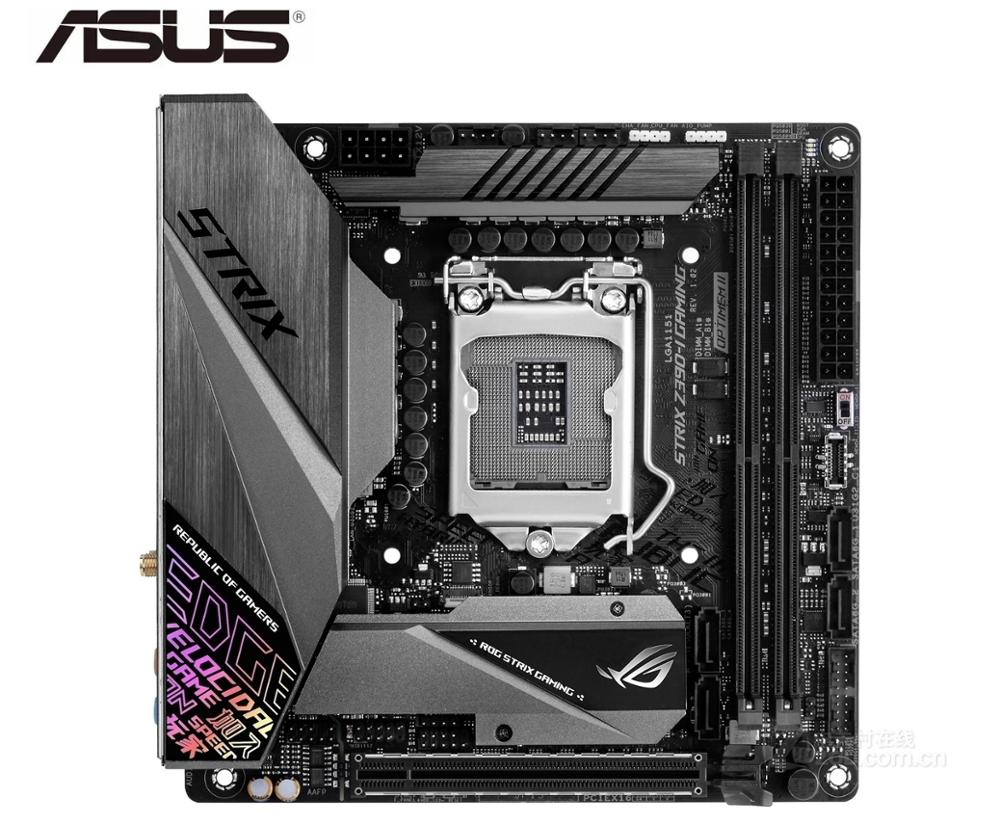 ASUS ROG placa base de juegos STRIX Z390-I LGA 1151 DDR4 USB2.0 USB3.0 placa base de escritorio usada