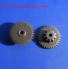 5 pçs/lote 10T/30T 0.8M/0.6M bore2.5mm Ferro Bilayer engrenagens mini engrenagem do motor da engrenagem da engrenagem do metal para o modelo de diy