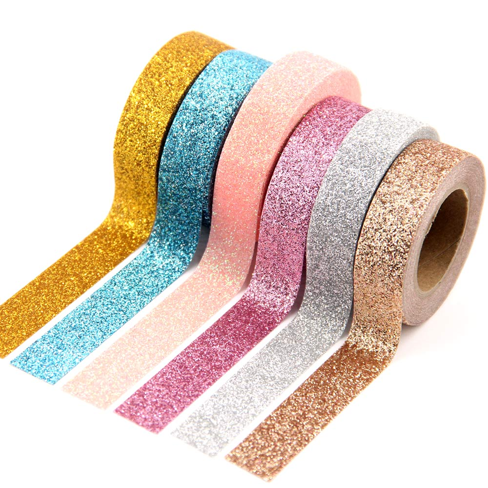 AliExpress - 1X powder Washi Tape Glitter Color Japanese Stationery 15mm* 5meter Kawaii Paper Scrapbooking School Tools Decorative Tapes Mask