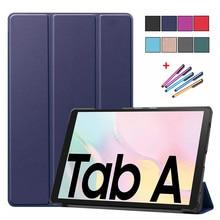 Abdeckung für Samsung Galaxy Tab A7 2020 Fall sm t500 t505 t507 Magnetische Trifold Leder Schutzhülle Für Samsung Tab a7 Fall