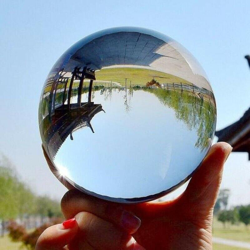 50/60mm cristal transparente Bola de curación fotografía lente esfera decoración chico regalo Artificial cristal decoración para el hogar o la oficina bolas