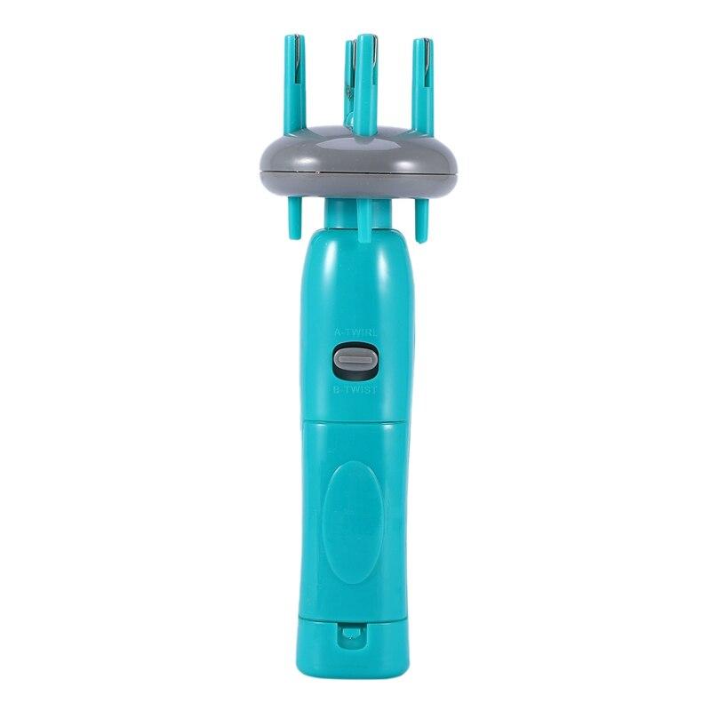 Máquina de tejer de giro, máquina de trenzado de cabello, herramienta electrónica automática Diy para cabello de moda deportiva de tejido rápido