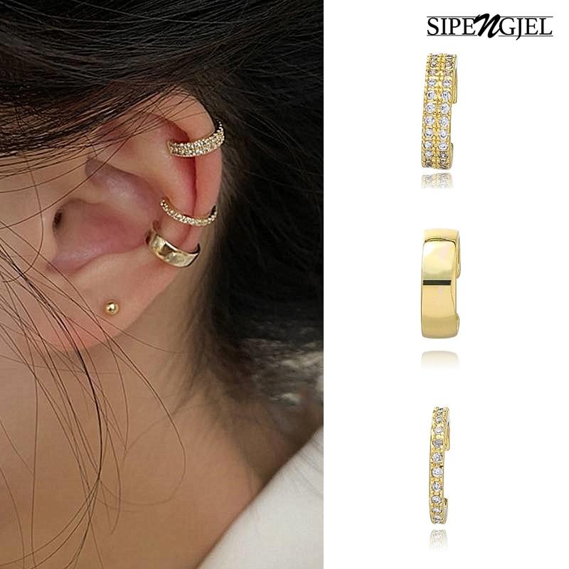 AliExpress - SIPENGJEL Cute Small Ear Cuff Set Clips Earrings Ear Cuff Fake Cartilage No Piercing Earrings For Women Party Jewelry 2021