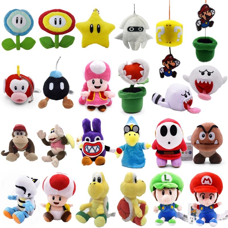 Аниме Super Mario Bros Bomb Magikoopa Toad Shy Guy Ghost Blooper DiddyPeluche Кукла Плюшевая мягкая детская игрушка Рождественский подарок