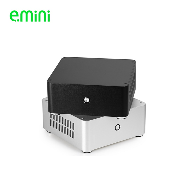 hifi aluminum us ac power distributor 6 outlet power supply box chassis case E.mini H80 Mini ITX computer case Aluminum HTPC case Chassis with power supply free shipping