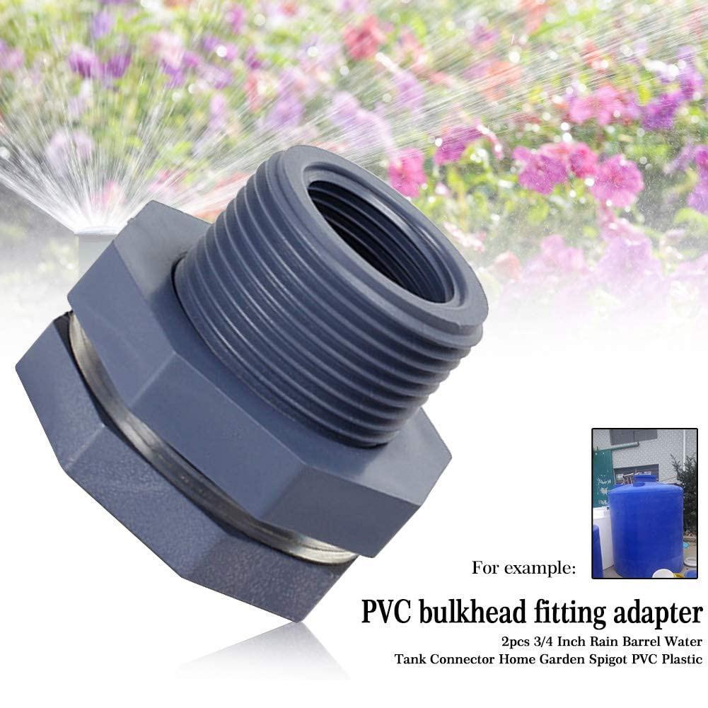 2 pçs tubo de chuva mangueira casa pvc plástico tanque de água conector soild jardim torneira adaptador anteparo montagem para aquários 3/4 Polegada
