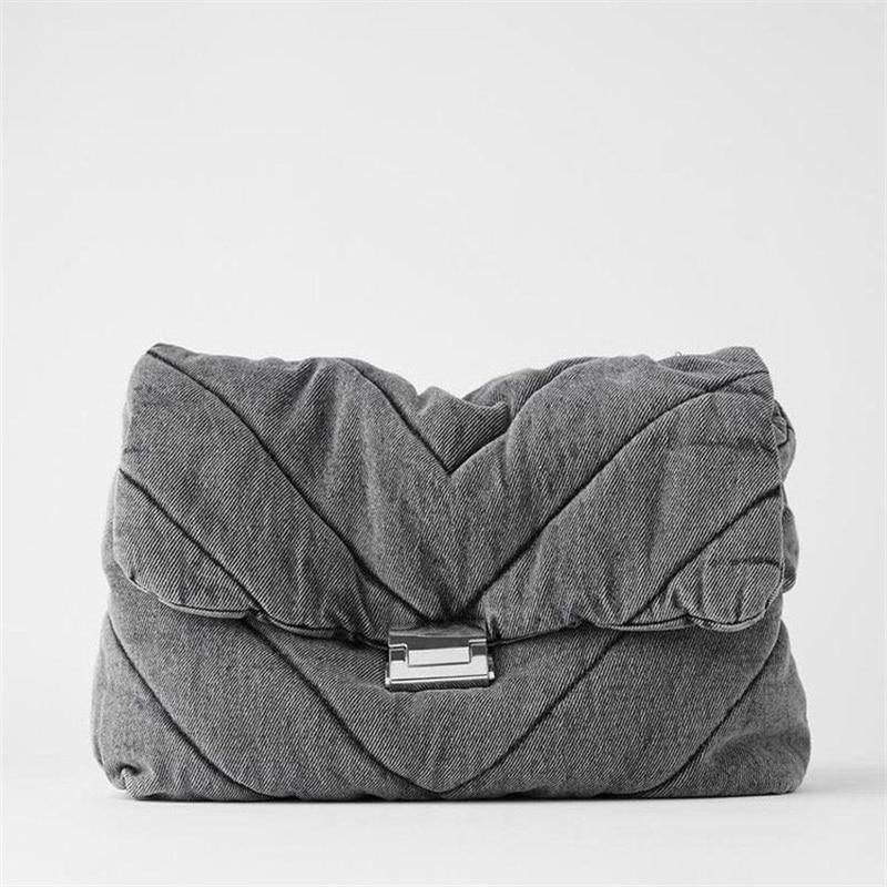 Fashion Shoulder Bag for Women 2020 Autumn New Designer Soft PU Leather Crossbody Bags Solid Color Rhombus Lattice Chain